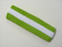Lime green white lime green striped terry sport headband for sweat