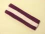 Purple white purple striped terry sport headband for sweat