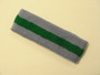 Steel blue green steel-blue striped terry sport headband for sweat