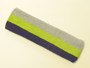 Silver grey lime green purple striped headband sports pro