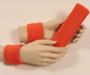 Dark orange headband wristband set for sports sweat
