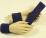 Dark purple headband wristband set for sports sweat
