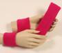 Hot pink headband wristband set for sports sweat