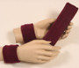 Maroon headband wristband set for sports sweat