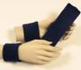Navy headband wristband set for sports sweat