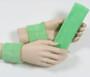 Pale green headband wristband set for sports sweat