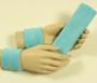 Light sky baby blue headband wristband set for sports sweat