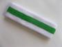 White bright green white striped terry tennis headband for sweat