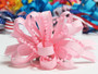 Light pink pearl bead strings hair bow w french clip