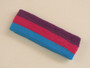 Purple hot pink sky blue 3color striped headband for sports