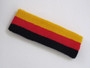 Golden yellow red black 3color striped headband for sports