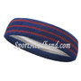 3red stripes in blue tennis headband for sports