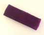 Purple terry sport headband for sweat