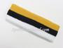Yellow Black White Striped Sports Headband