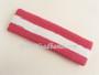 Bright pink white Bright pink striped sport headband terry