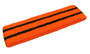 Dark orange basketball headband pro with 2 black stripes