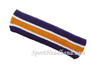 Dark purple tan with white line basketball headband pro