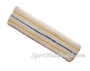 Yellow Blue Yellow striped on White large tennis head sweatband