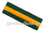 Dark Green Gold Yellow Dark green stripe terry sport headband
