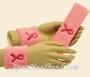 Light pink with Bright Pink Ribbon headband wristband set