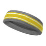 Silver Gray Gold Yellow with white lines basketball headband pro