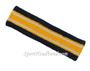 Navy, Gold Yellow with 2 white lines basketball headband pro