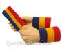 Blue Gold Yellow Red sports sweat headband 4inch wristbands set