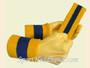 Gold Yellow Blue 2 Colored sports sweat headband wristbands Set