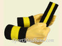 Black Bright Yellow Black sports sweat headband wristbands Set
