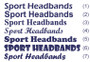 Customized / Embroidery (Number, Text, Logo) White Striped head sweatbands