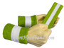 Lime Green White Lime Green sports sweat headband wristbands Set
