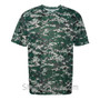 Dark Green Badger Men's Short Sleeve Sublimated Camo Tee