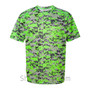 Lime Badger Men's Short Sleeve Sublimated Camo Tee