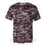 Maroon Badger Men's Short Sleeve Sublimated Camo Tee