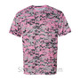 Pink Badger Men's Short Sleeve Sublimated Camo Tee