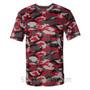 Badger Sport Adult Unisex Short Sleeve Camo Tee Shirt - Red