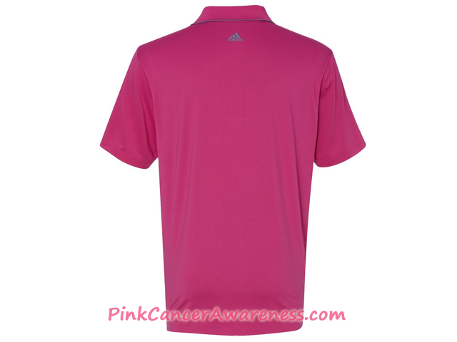 Adidas Pink Golf Men's Puremotion Climacool 3-Stripes Chest Polo Back View
