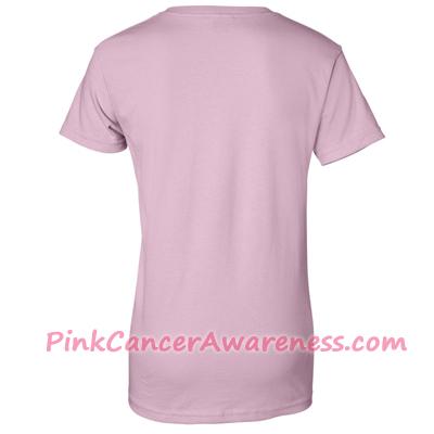 Light Pink Ladies Ultra Cotton T-Shirt Back View