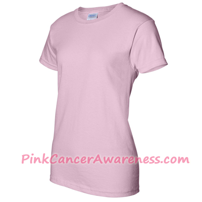 Light Pink Ladies Ultra Cotton T-Shirt Side View