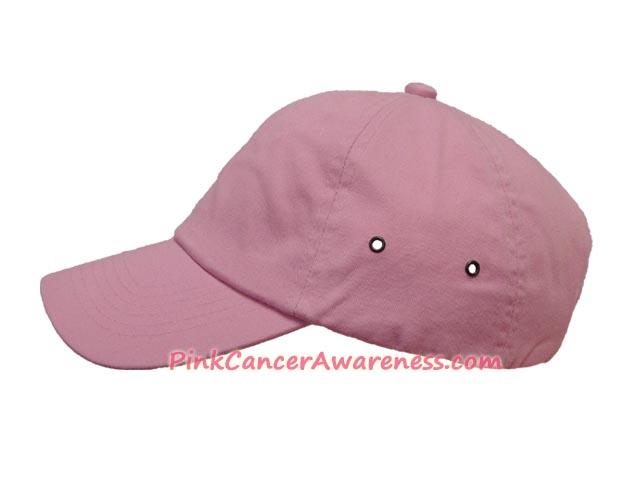 Pink Cotton Baseball Cap