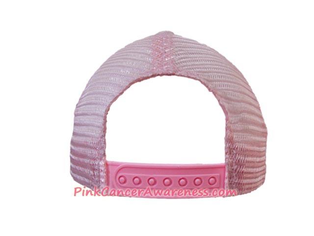 Pink Cancer Awareness Five Panel Mesh Back Cap