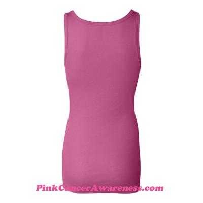 Very Pink Ladies' Sheer Mini Rib Tank Top Back View