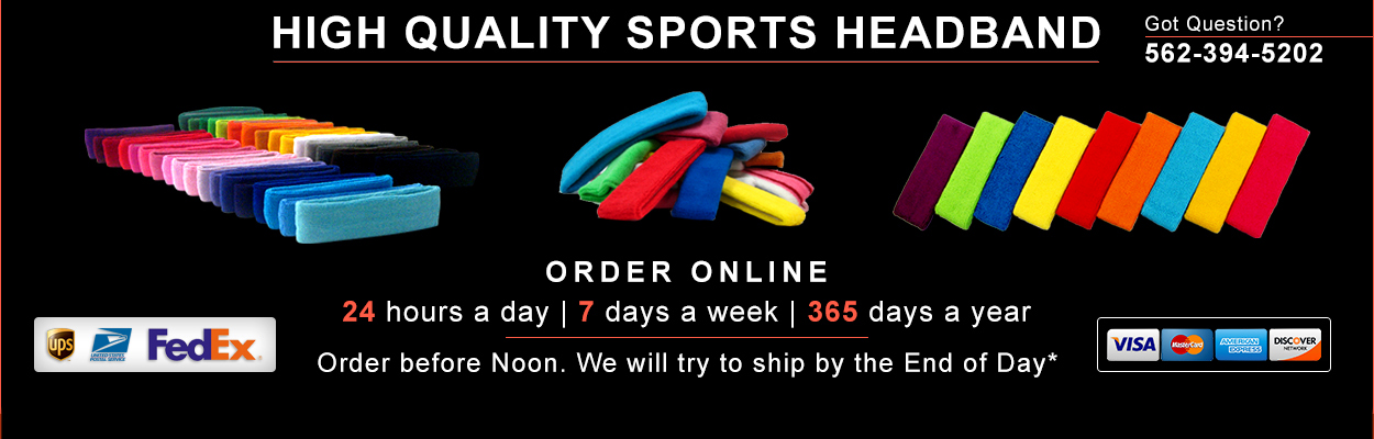 Basketball Headbands and Sweatbands