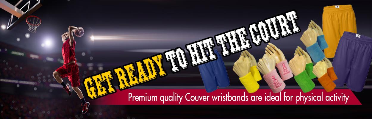 Premium quality sweatband wristband set