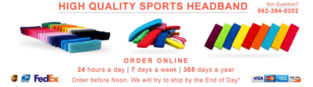 High quality sports headband sweatband shop