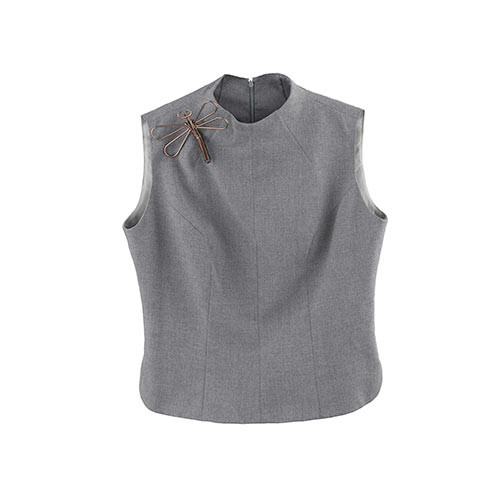 Gray Loose Blouse for Women