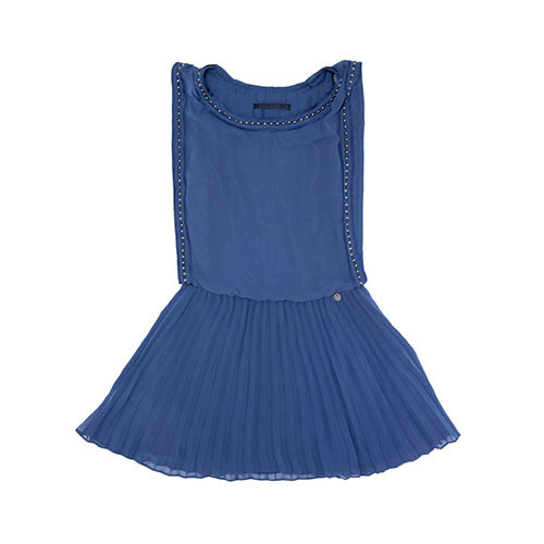 Blue Dress with Metal Outline