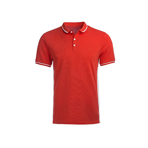 Fit Red Polo Shirt with White Outline