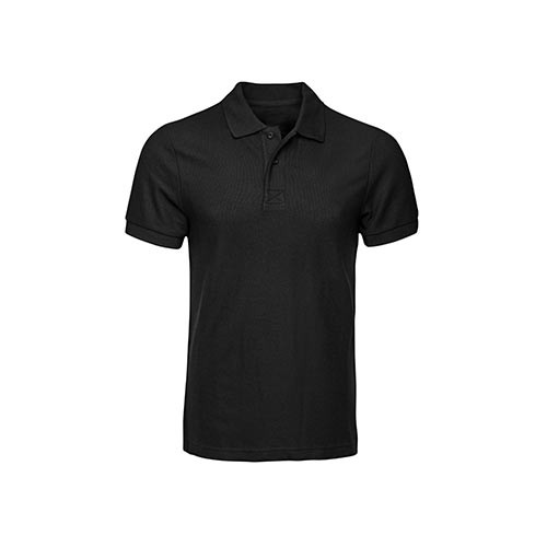 Fit Solid Black Polo Shirt