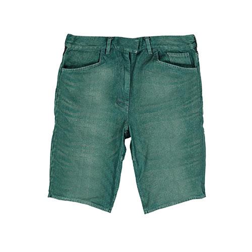 Green Denim Shorts for Men